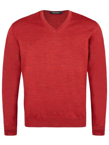 MAERZ Muenchen Pullover - Comfort Fit - V-Ausschnitt - Hot Pepper - 490400 482