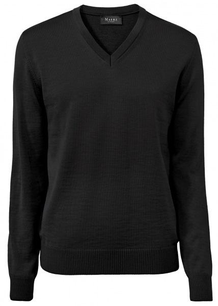 MAERZ Muenchen Pullover - Comfort Fit - V-Ausschnitt - Merinowolle - anthrazit - 490400 591