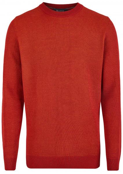MAERZ Muenchen Pullover - Regular Fit - Rundhals - Hot Pepper - 457501 482