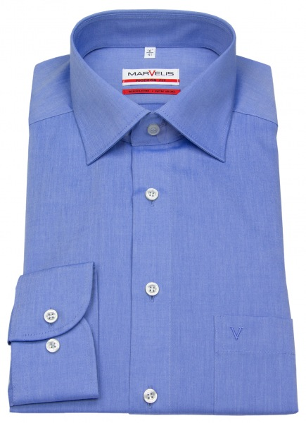 Marvelis Hemd - Modern Fit - Chambray - blau - 4704 64 13