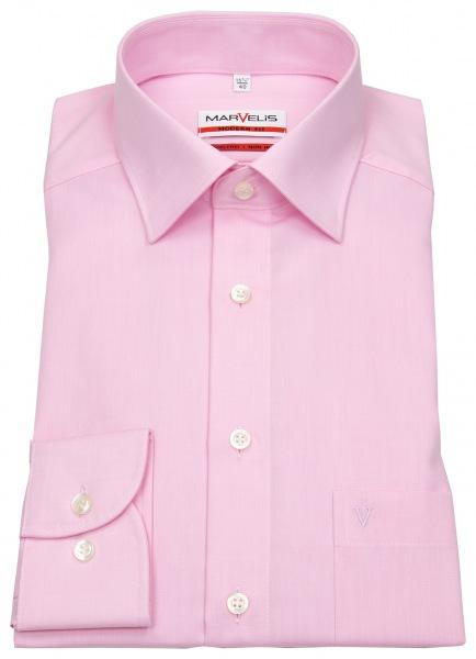 Marvelis Hemd - Modern Fit - Chambray - rosé - 4704 64 32