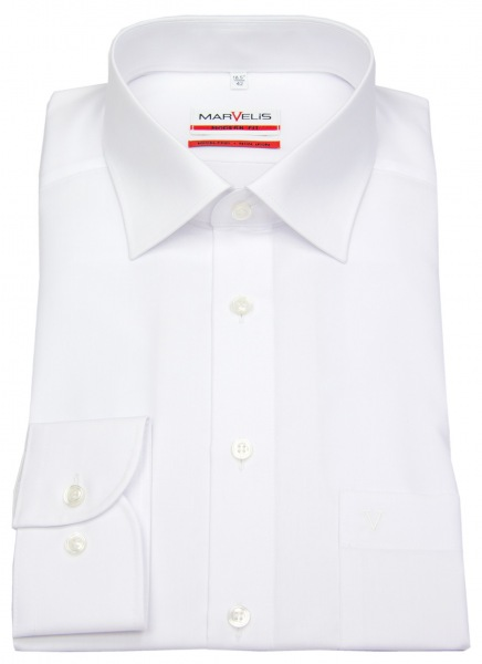 Marvelis Hemd - Modern Fit - weiß - langer Arm 69cm - 4700 69 00