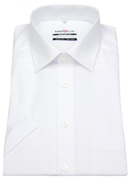 Marvelis Kurzarm Hemd - Comfort Fit - weiß - 7973 12 00
