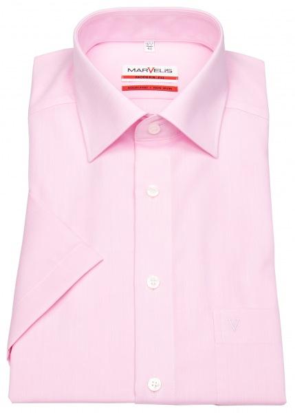 Marvelis Kurzarmhemd - Modern Fit - Chambray - rosé - 4704 12 32