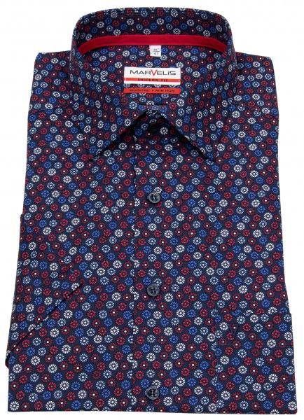 Marvelis Kurzarmhemd - Modern Fit - Floraler Print - mehrfarbig - 7229 72 35