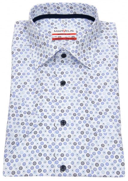 Marvelis Kurzarmhemd - Modern Fit - Floraler Print - mehrfarbig - 7229 72 15