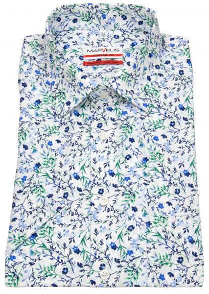 Marvelis Kurzarmhemd - Modern Fit - Floraler Print - mehrfarbig - 7255 72 45