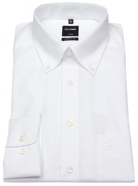 OLYMP Hemd - Luxor Modern Fit - Button-Down Kragen - weiß - 0303 64 00