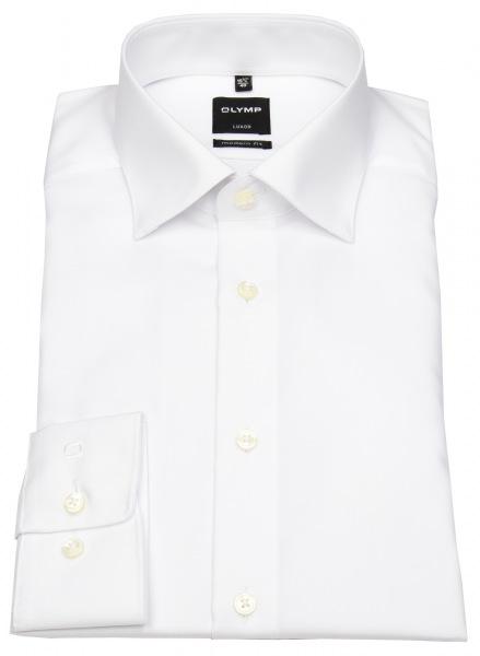 OLYMP Hemd - Luxor Modern Fit - ohne Brusttasche - weiß - 6350 64 00