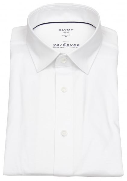 OLYMP Hemd - Modern Fit - 24 / Seven - All Time Shirt - weiß - 1202 64 00