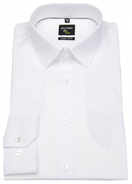 OLYMP Hemd - No. Six Super Slim - weiß - 0466 64 00