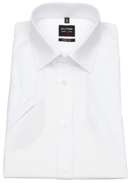 OLYMP Kurzarmhemd - Level Five Body Fit - weiß - 6090 12 00