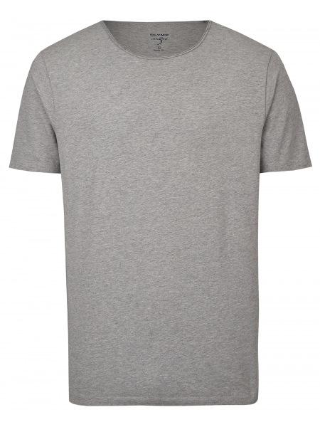 OLYMP Level Five Body Fit - T-Shirt - Rundhals-Ausschnitt - grau - 5660 32 63
