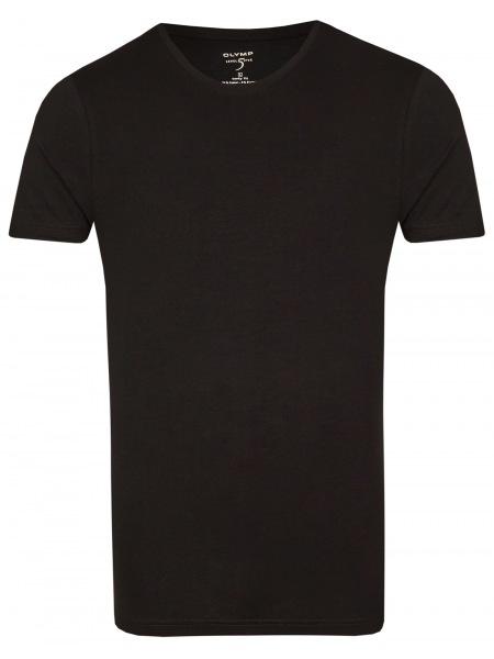 OLYMP Level Five Body Fit - T-Shirt - Rundhals-Ausschnitt - schwarz - 0803 12 68