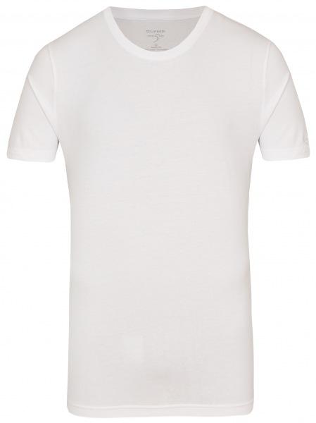 OLYMP Level Five Body Fit - T-Shirt - Rundhals-Ausschnitt - weiß - 0803 12 00