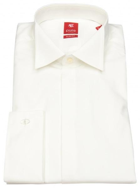 Pure Festliches Hemd - Slim Fit - Kläppchenkragen - UMA - beige - 3382-110 200