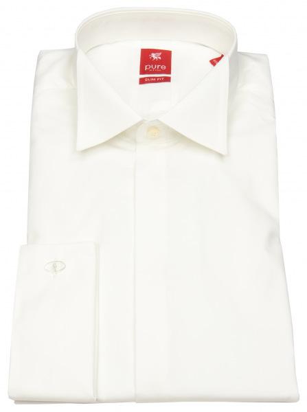Pure Festliches Hemd - Slim Fit - Kläppchenkragen - UMA - beige - ohne OVP - 3382-110 200