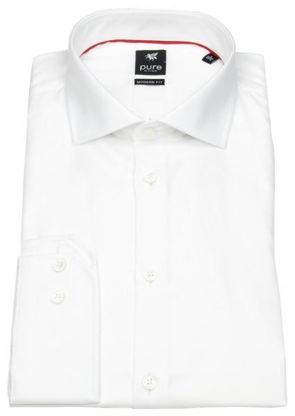 Pure Hemd - Modern Fit - Haifischkragen - weiß - 3380-498 900