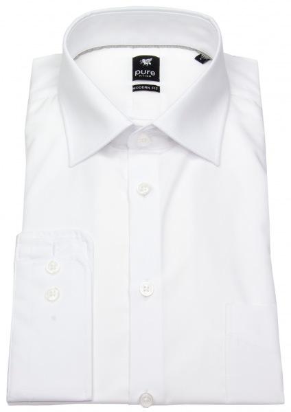Pure Hemd - Modern Fit - Kentkragen - weiß - 3379-420 900