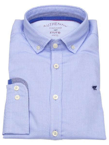 Pure Hemd - Slim Fit - Button Down - Oxford - hellblau - 3800-510 120