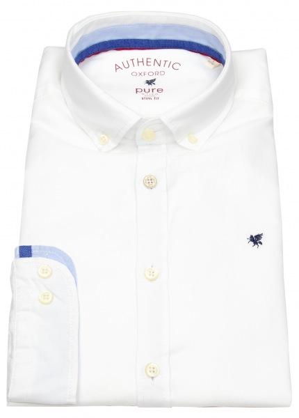 Pure Hemd - Slim Fit - Button Down - Oxford - weiß - 3800-510 900