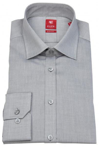 Pure Hemd - Slim Fit - grau - 3330 720 710
