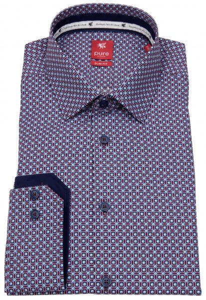 Pure Hemd - Slim Fit - Print - mehrfarbig - 31012-21103 377