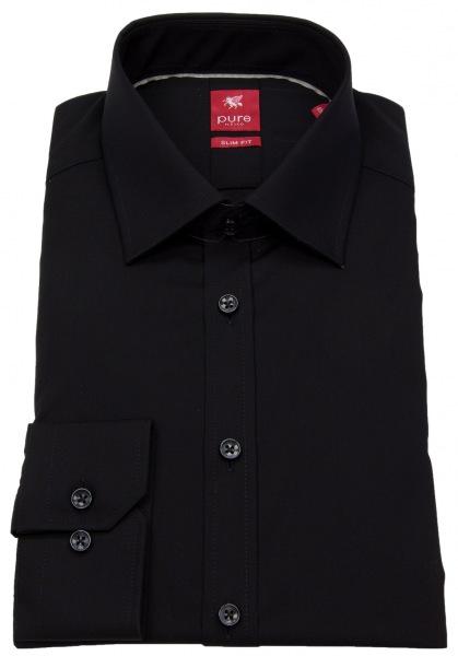 Pure Hemd - Slim Fit - schwarz - 3330 720 07