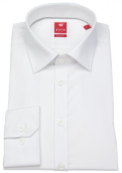 Pure Hemd - Slim Fit - weiß - 3330 720 90
