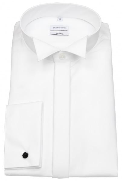 Seidensticker Galahemd - Shaped Fit - Kläppchenkragen - weiß - 021008 01