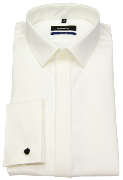 Seidensticker Galahemd - Shaped / Tailored Fit - Kentkragen - creme - 245270 21