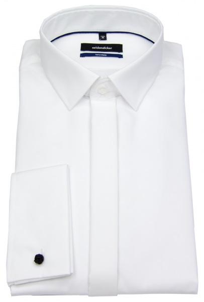 Seidensticker Galahemd - Shaped / Tailored Fit - Kentkragen - weiß - 245270 01