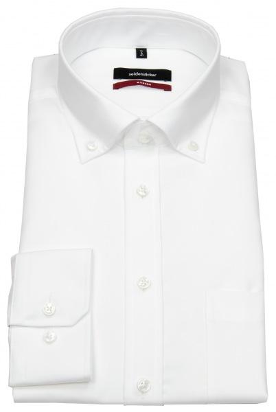 Seidensticker Hemd - Regular Fit - Button-Down Kragen - Fil-a-Fil - weiß - 003002 01