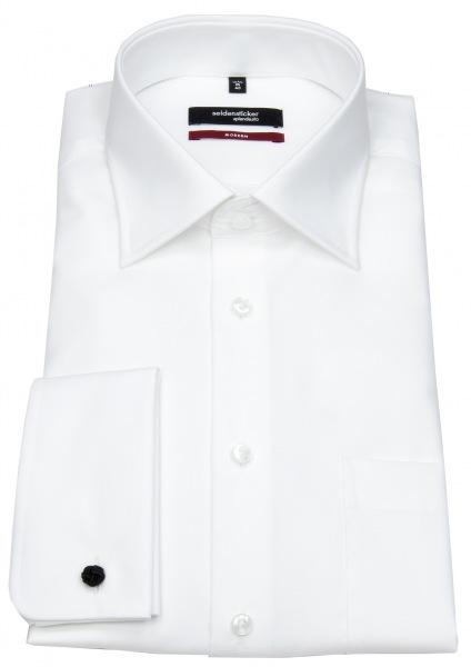 Seidensticker Hemd - Regular Fit - Umschlagmanschette - weiß - 001007 01