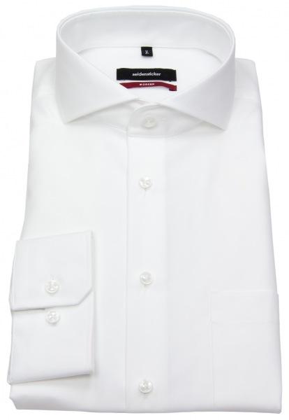 Seidensticker Hemd - Regular/Modern Fit - Haifischkragen - Fil-a-Fil - weiß - 003014 01