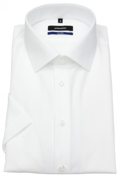 Seidensticker Kurzarmhemd - Shaped Fit - Kentkragen - weiß - 021001 01