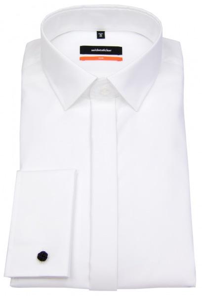 Seidensticker Smokinghemd - Slim Fit - Kentkragen - weiß - 675674 01