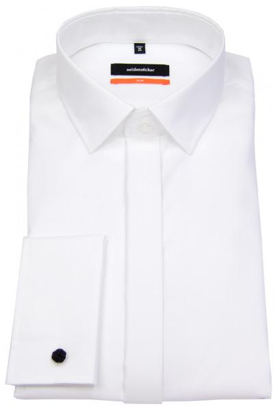 Seidensticker Smokinghemd - Slim Fit - Kentkragen - weiß - ohne OVP - 675674 01