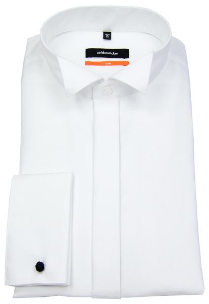 Seidensticker Smokinghemd - Slim Fit - Kläppchenkragen - weiß - ohne OVP - 675670 01