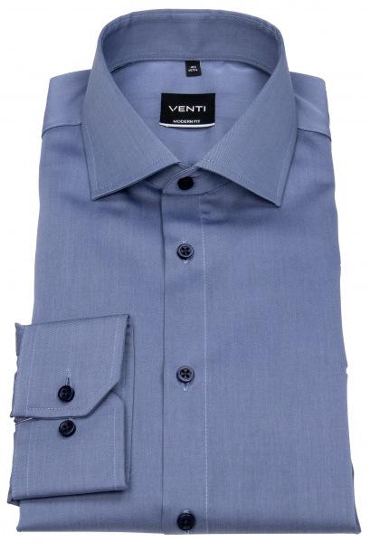 Venti Hemd - Modern Fit - Twill - blau - 001880 100