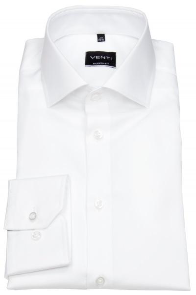 Venti Hemd - Modern Fit - Twill - weiß - 001880 000