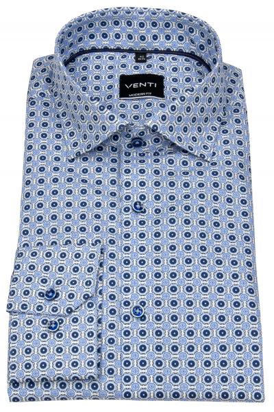 Venti Hemd - Modern Fit - Under Button Down - blau / weiß - 103497200 100