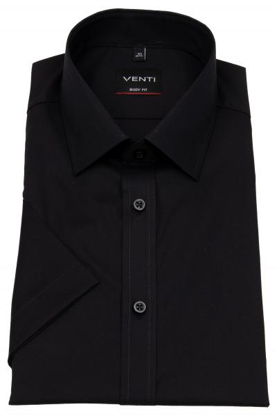 Venti Kurzarmhemd - Body Fit - Kentkragen - schwarz - 001930 800