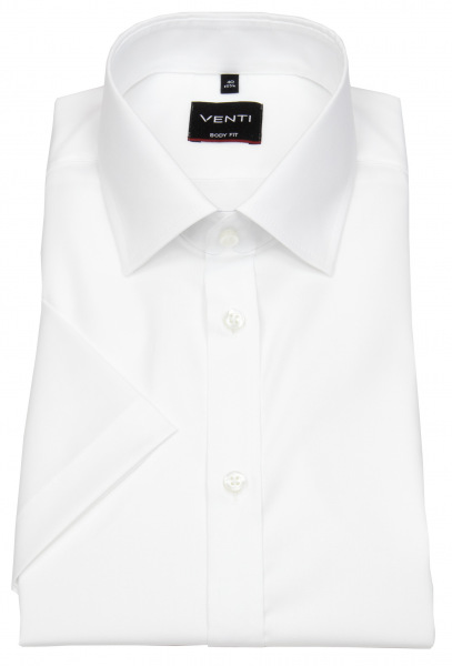 Venti Kurzarmhemd - Body Fit - Kentkragen - weiß - 001930 000