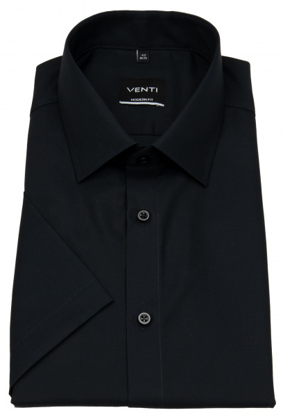 Venti Kurzarmhemd - Modern Fit - schwarz - 001620 800