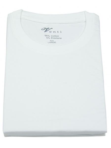 Venti T-Shirt Doppelpack - Modern Fit - Rundhals - weiß - 012500 001
